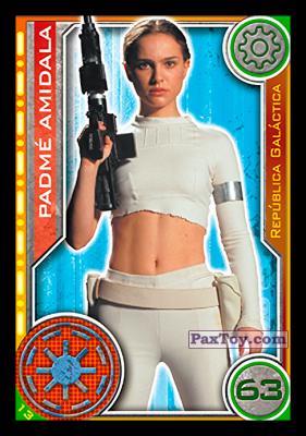 PaxToy.com - 013 Padme Amidala из Topps: Star Wars El Camino De Los Jedi from Carrefour