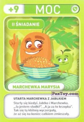 PaxToy.com - 014 Marchewka Marysia (II Sniadanie) из Biedronka: Gang Swieżaków 1 - Karty i Naklejki