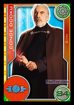 PaxToy.com - 015 Conde Dooku из Topps: Star Wars El Camino De Los Jedi from Carrefour