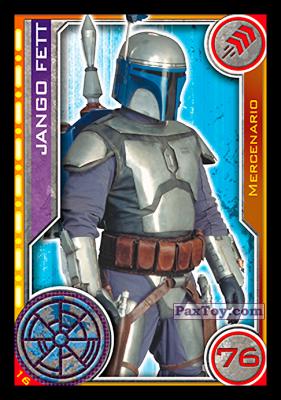 PaxToy.com - 016 Jango Fett из Topps: Star Wars El Camino De Los Jedi from Carrefour