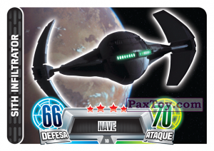 PaxToy.com - 018 Sith Infiltrator из Topps: Star Wars Force Attax Heroes y Villanos from Continente