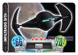 PaxToy.com - 018 Sith Infiltrator из Carrefour: Star Wars Heroes y Villanos Force Attax