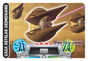 PaxToy.com  Карточка / Card 019 Geonosian Starfighter из Carrefour: Star Wars Heroes y Villanos Force Attax
