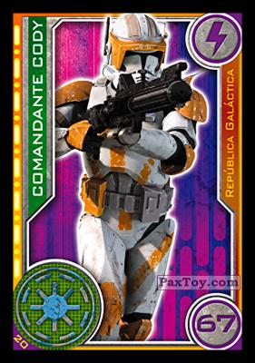 PaxToy.com - 020 Comandante Cody из Topps: Star Wars El Camino De Los Jedi from Carrefour