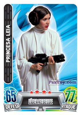 PaxToy.com - 022 Princesa Leia из Topps: Star Wars Force Attax Heroes y Villanos from Continente