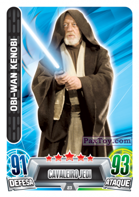 PaxToy.com - 023 Obi-Wan Kenobi из Topps: Star Wars Force Attax Heroes y Villanos from Continente