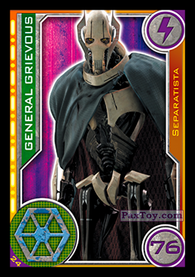 PaxToy.com - 024 General Grievous из Topps: Star Wars El Camino De Los Jedi from Carrefour