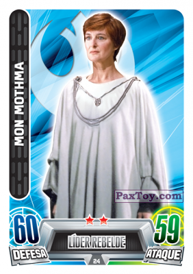 PaxToy.com - 024 Mon Mothma из Topps: Star Wars Force Attax Heroes y Villanos from Continente