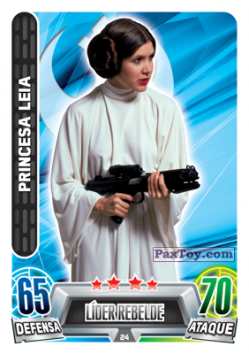 PaxToy.com - 024 Princesa Leia из Carrefour: Star Wars Heroes y Villanos Force Attax