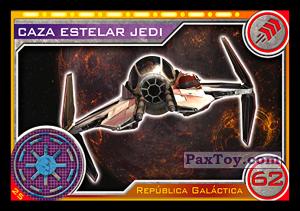 PaxToy.com - 025 Caza Estelar Jedi из Topps: Star Wars El Camino De Los Jedi from Carrefour
