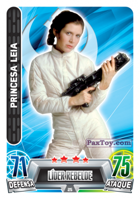 PaxToy.com - 025 Princesa Leia из Topps: Star Wars Heroes y Villanos (Force Attax) from Carrefour