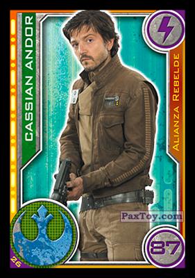 PaxToy.com - 026 Cassian Andor из Topps: Star Wars El Camino De Los Jedi from Carrefour