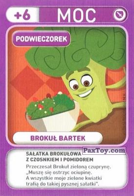 PaxToy.com - 027 Brokul Bartek (Podwieczorek) из Biedronka: Gang Swieżaków 1 - Karty i Naklejki