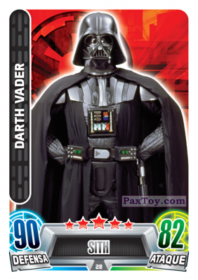 PaxToy.com - 028 Darth Vader из Carrefour: Star Wars Heroes y Villanos Force Attax