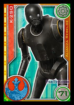 PaxToy.com - 028 K-2SO из Carrefour: Star Wars El Camino De Los Jedi (Cards)