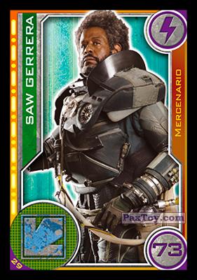 PaxToy.com - 029 Saw Gerrera из Carrefour: Star Wars El Camino De Los Jedi (Cards)