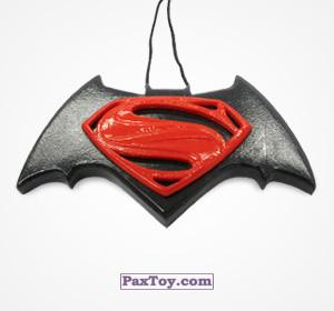 PaxToy.com - 03 Эмблема «Бэтмен + Супермен» из Choco Balls: Бэтмен против Супермена