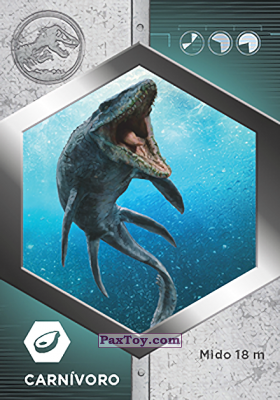 PaxToy.com - 03 Mosasaurio из Supermercados DIA: Jurassic World - Cards