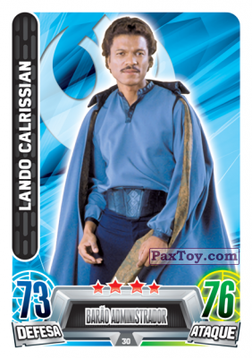 PaxToy.com - 030 Lando Calrissian из Topps: Star Wars Force Attax Heroes y Villanos from Continente