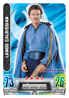 PaxToy.com - 030 Lando Calrissian из Topps: Star Wars Heroes y Villanos (Force Attax) from Carrefour