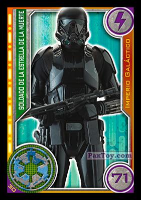 PaxToy.com - 030 Soldado De La Estrella De La Muerte из Carrefour: Star Wars El Camino De Los Jedi (Cards)