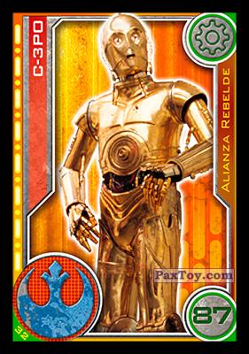 PaxToy.com - 032 C-3PO из Topps: Star Wars El Camino De Los Jedi from Carrefour