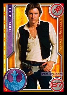 PaxToy.com - 033 Han Solo из Topps: Star Wars El Camino De Los Jedi from Carrefour