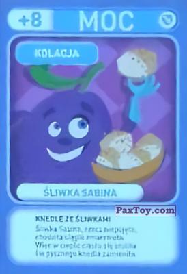 PaxToy.com - 033 Sliwka Sabina (Kolacja) из Biedronka: Gang Swieżaków 1 - Karty i Naklejki