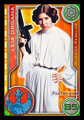 PaxToy.com - 035 Leia Organa из Topps: Star Wars El Camino De Los Jedi from Carrefour
