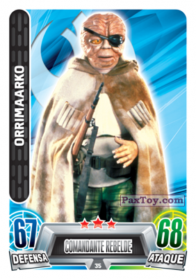 PaxToy.com - 035 Orrimaarko из Topps: Star Wars Heroes y Villanos (Force Attax) from Carrefour