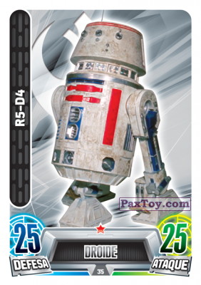 PaxToy.com - 035 R5-D4 из Topps: Star Wars Force Attax Heroes y Villanos from Continente