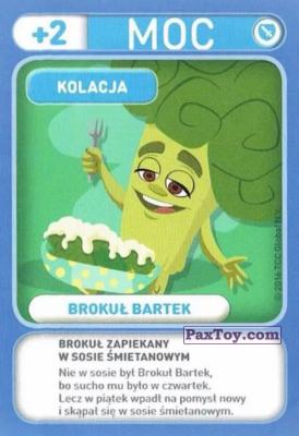 PaxToy.com - 036 Brokul Bartek (Kolacja) из Biedronka: Gang Swieżaków 1 - Karty i Naklejki