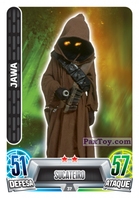 PaxToy.com - 037 Jawa из Topps: Star Wars Force Attax Heroes y Villanos from Continente