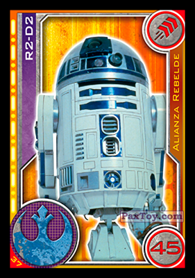 PaxToy.com - 037 R2-D2 из Topps: Star Wars El Camino De Los Jedi from Carrefour