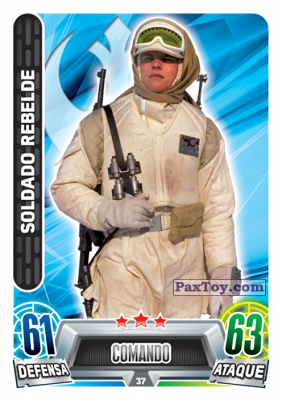 PaxToy.com - 037 Soldado Rebelde из Topps: Star Wars Heroes y Villanos (Force Attax) from Carrefour