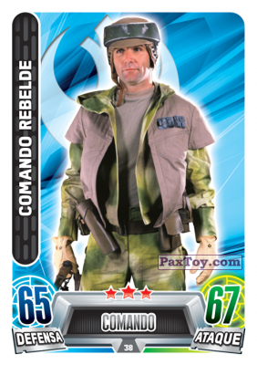 PaxToy.com - 038 Comando Rebelde из Topps: Star Wars Heroes y Villanos (Force Attax) from Carrefour