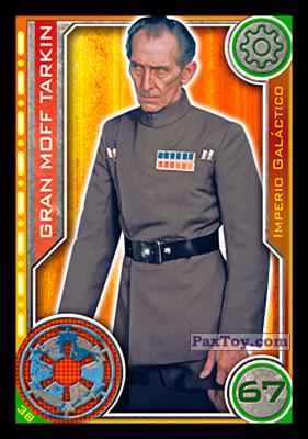 PaxToy.com - 038 Gran Moff Tarkin из Topps: Star Wars El Camino De Los Jedi from Carrefour