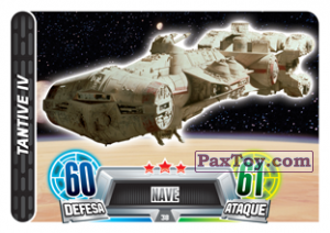PaxToy.com - 038 Tantive IV из Topps: Star Wars Force Attax Heroes y Villanos from Continente