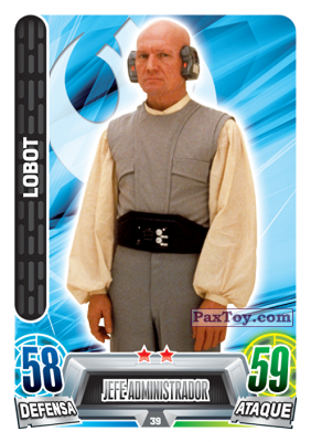 PaxToy.com - 039 Lobot из Carrefour: Star Wars Heroes y Villanos Force Attax