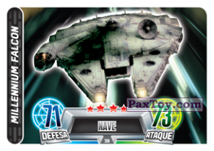 PaxToy.com - 039 Millennium Falcon из Topps: Star Wars Force Attax Heroes y Villanos from Continente