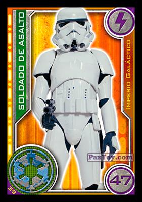 PaxToy.com - 039 Soldado de Asalto из Topps: Star Wars El Camino De Los Jedi from Carrefour