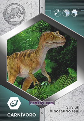PaxToy.com - 04 Tiranosaurio Rex Bebe из Supermercados DIA: Jurassic World - Cards