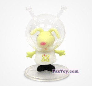 PaxToy.com  Фигурка 04 Зайчик Ричард космонавт из Choco Balls: Свинка Пеппа. Профессии.
