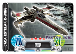 PaxToy.com - 040 Caca Estelar X-Wing из Topps: Star Wars Force Attax Heroes y Villanos from Continente