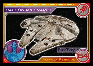 PaxToy.com - 040 Halcon Milenario из Carrefour: Star Wars El Camino De Los Jedi (Cards)