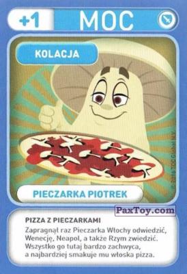 PaxToy.com - 040 Pieczarka Piotrek (Kolacja) из Biedronka: Gang Swieżaków 1 - Karty i Naklejki