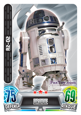 PaxToy.com - 040 R2-D2 из Carrefour: Star Wars Heroes y Villanos Force Attax
