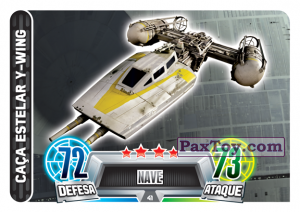PaxToy.com - 041 Caca Estelar Y-Wing из Topps: Star Wars Force Attax Heroes y Villanos from Continente