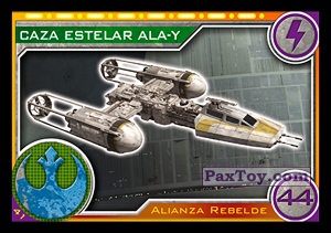 PaxToy.com - 041 Caza Estelar Ala-Y из Topps: Star Wars El Camino De Los Jedi from Carrefour