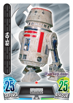 PaxToy.com - 042 R5-D4 из Carrefour: Star Wars Heroes y Villanos Force Attax